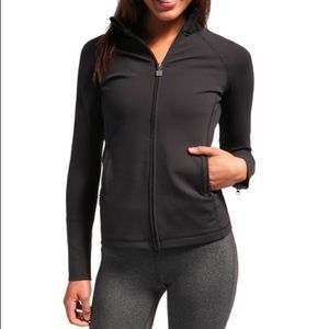 Zobha black front zip jacket, XS